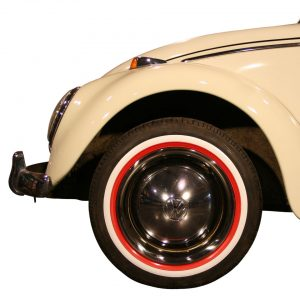 White/red wall ring (small) 14 inch, 4 pieces - Exterior - Wheel rims and accessories - Tyre walls  - Generic