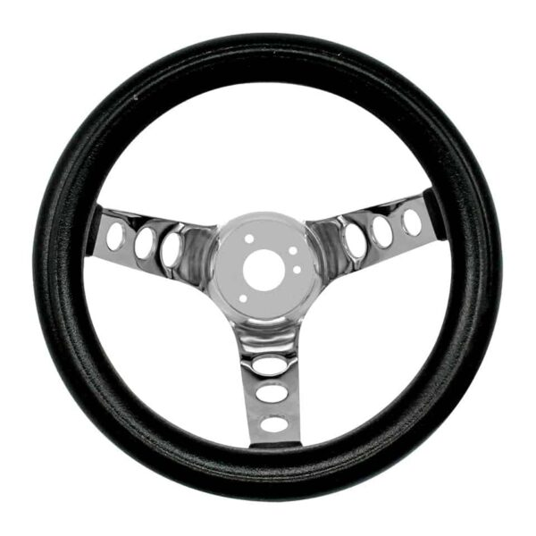 Steering wheel 3 spokes10 inch - Interior - Shifters and steering wheels - American sport steering wheels  - Bugpack