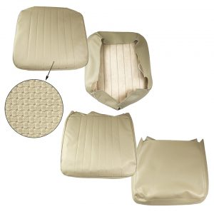 Front seat covers beige - basket weave - vertical seams - Interior - Seats and accessories - Seat covers  - Generic