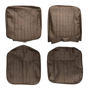 Front seat covers brown walkthrough - basket weave - (vertical seams) - Interior - Seats and accessories - Seat covers  - Generic