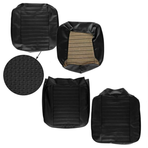 Front seat covers black walkthrough - basket weave - (horizontal seams) - Interior - Seats and accessories - Seat covers  - Generic