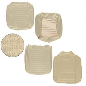 Front seat covers beige walkthrough - basket weave - (horizontal seams) - Interior - Seats and accessories - Seat covers  - Generic