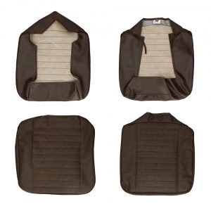 Front seat covers brown walkthrough - Bus 08/67-07/72 basket weave - (horizontal seams) - Interior - Seats and accessories - Seat covers  - Generic