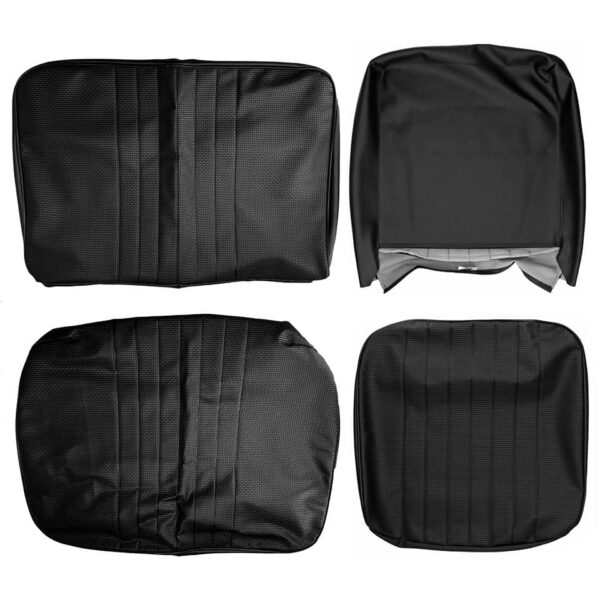 Front seat covers black 1/3 2/3 - Bus 08/67-07/72 basket weave (vertical seams) - Interior - Seats and accessories - Seat covers  - Generic
