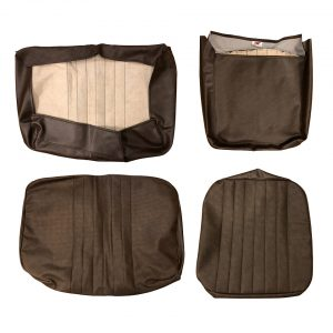 Front seat covers brown 1/3 2/3 - basket weave (vertical seams) - Interior - Seats and accessories - Seat covers  - Generic