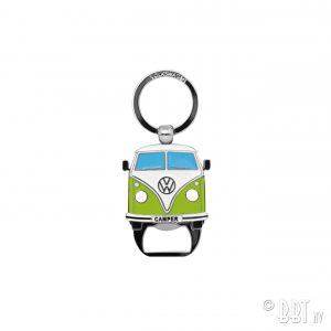 Key ring with bottle opener the design of the VW T1 Bus - Green - Gadgets - Sew on badge, Key rings, gifts - Key-ring  - Generic
