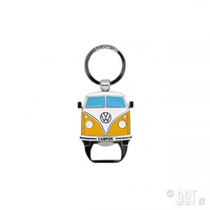 Key ring with bottle opener the design of the VW T1 Bus - Yellow - Gadgets - Sew on badge, Key rings, gifts - Key-ring  - Generic