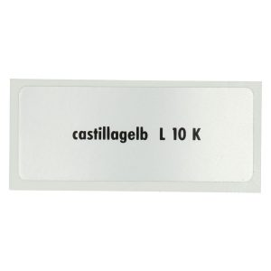 Sticker L 10 K, Castillian Yellow - Stickers - Stickers - Stickers  - Generic