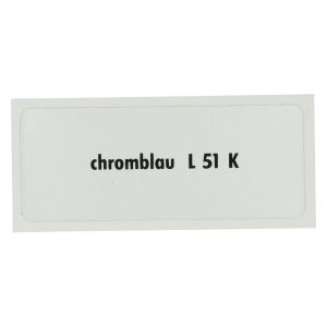 Sticker L 51 K, Chrome blue - Stickers - Stickers - Stickers  - Generic