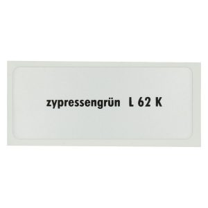 Sticker L 62 K, Cypress green - Stickers - Stickers - Stickers  - Generic