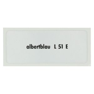 Sticker L 51 E, Albert blue - Stickers - Stickers - Stickers  - Generic