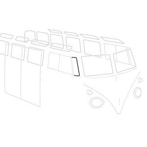 Vent wing seals, right, each - Exterior - Body part rubbers - Door seals  Bus -'67 Bus & Pick-up  ((XView 1-17)  - Generic