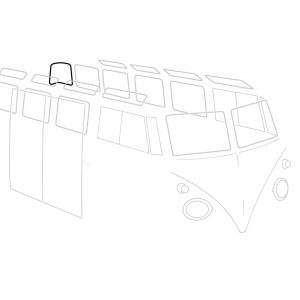 Rear corner window seal, each - Exterior - Body part rubbers - Body part rubbers  BusBus & Pick-up (XView 1-10)  - Generic