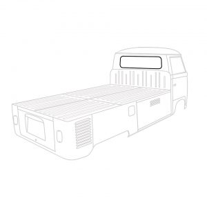 Rear window seal, Cal Look, Pick-up. German Quality, each - Exterior - Body part rubbers - Body part rubbers  BusBus & Pick-up (XView 1-10)  - Generic