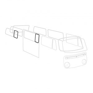 Rear Vent wing seal, central, rear, L/R, each - Exterior - Body part rubbers - Body part rubbers  BusBus & Pick-up (XView 1-10)  - Generic
