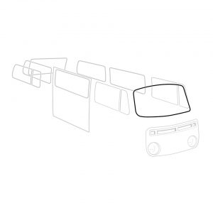 Front window seal 'Deluxe' (alu trim) - Exterior - Body part rubbers - Body part rubbers  BusBus & Pick-up (XView 1-10)  - Generic
