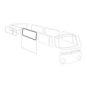 Central side window seal 'Deluxe' (alu trim) - Exterior - Body part rubbers - Body part rubbers  BusBus & Pick-up (XView 1-10)  - Generic