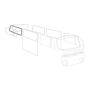 Rear side window seal 'Deluxe' (alu trim) - Exterior - Body part rubbers - Body part rubbers  BusBus & Pick-up (XView 1-10)  - Generic