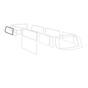 Rear side window seal with ventwing 'Deluxe' (alu trim) - Exterior - Body part rubbers - Body part rubbers  BusBus & Pick-up (XView 1-10)  - Generic