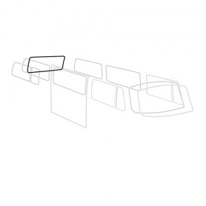 Rear window seal 'Deluxe' (alu trim) - Exterior - Body part rubbers - Body part rubbers  BusBus & Pick-up (XView 1-10)  - Generic