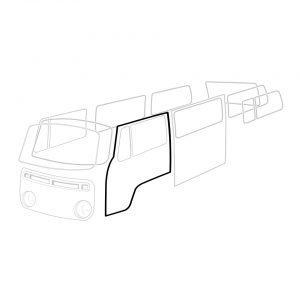 Door seal, left, each - Exterior - Body part rubbers - Door seals  Bus '68-'79 Bus & Pick-up  (XView 1-18)  - Generic