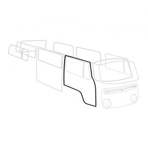 Door seal, right, each - Exterior - Body part rubbers - Door seals  Bus '68-'79 Bus & Pick-up  (XView 1-18)  - Generic
