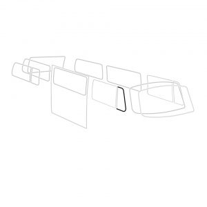 Vent wing door seal, right, each - Exterior - Body part rubbers - Door seals  Bus '68-'79 Bus & Pick-up  (XView 1-18)  - Generic