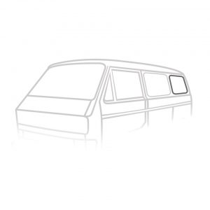 Rear side window seal 'Deluxe' (plastic trim) - Exterior - Body part rubbers - Body part rubbers  Type 25 (XView 1-30)  - Generic