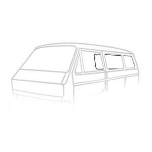Rear window seal 'Deluxe' (plastic trim) - Exterior - Body part rubbers - Body part rubbers  Type 25 (XView 1-30)  - Generic