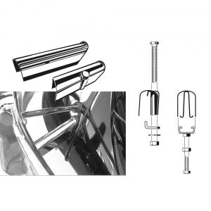 Bumperbracket covers chromeset of 4 - Exterior - Bumpers and accessories - Bumperbrackets  - Flat 4