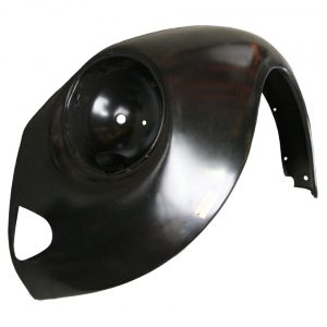 Front fender, leftWithout indicator hole and with triangular bumperbracket hole - Exterior - Wings and runningboards - Steel fenders for Beetles  - Generic