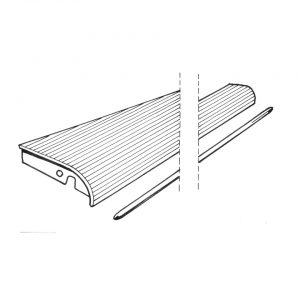 Running-board leftwith 9 mm moulding - Exterior - Wings and runningboards - Beetle runningboards  - Generic