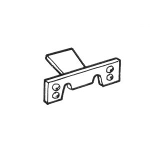 Clips for running-board with 9 mm moulding, small10 pieces - Exterior - Wings and runningboards - Beetle runningboards  - Generic