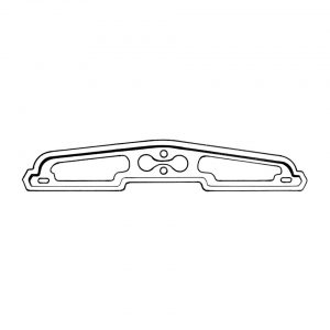 Seal license light housing - KG - Exterior - Body part rubbers - Rubbers Karmann Ghia (XView 1-16)  - Generic