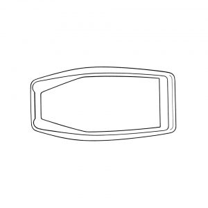 Door latch seal, large, rear, each - Exterior - Body part rubbers - Door seals Type 3  (XView 1-19)  - Generic