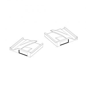 Rear window wedge, as pair - Exterior - Body part rubbers - Door rubbers for Beetle convertible '50-'64 (XView 1-12)  - Generic