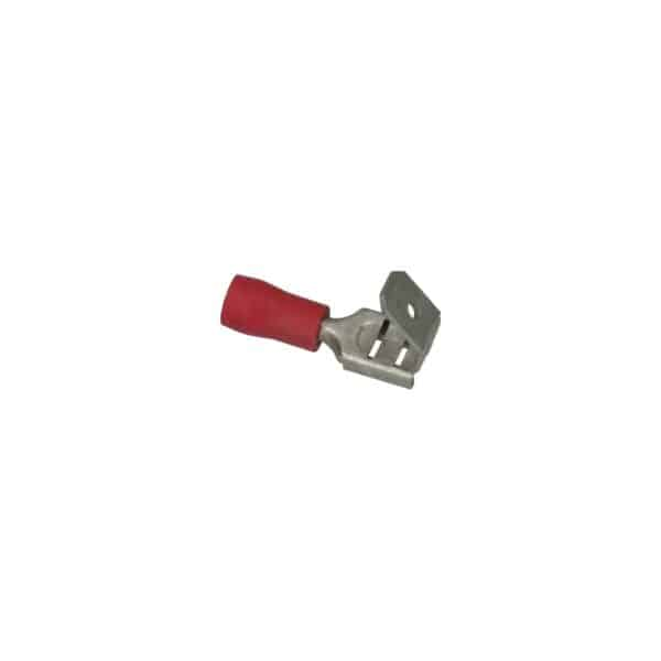 Cable connector blue, flat male/female, 6,3x0,8mm - Fixing material - Cable connectors - red  - Generic