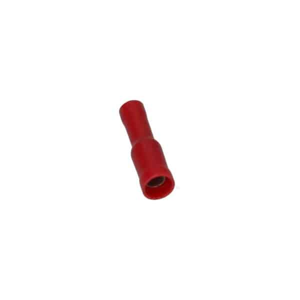Cable connector red, round socket 4mm - Fixing material - Cable connectors - red  - Generic