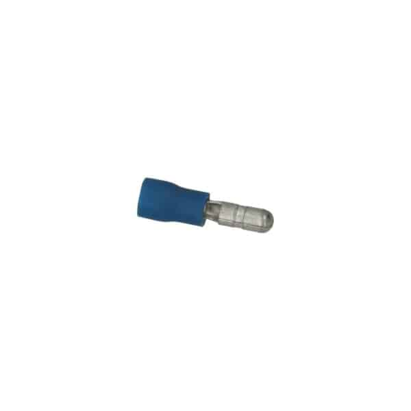 Cable connector blue, flat 4.8x0.8mm - Fixing material - Cable connectors - blue  - Generic