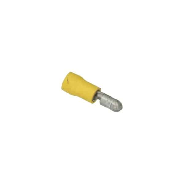 Cable connector yellow, round 5mm - Fixing material - Cable connectors - yellow  - Generic