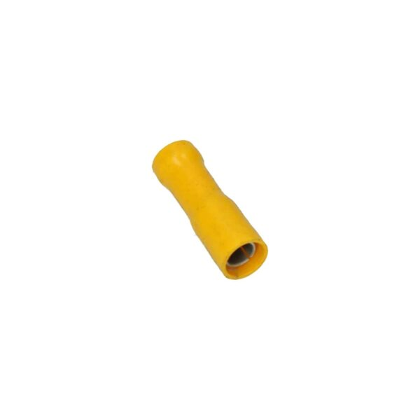 Cable connector yellow, round female 5mm - Fixing material - Cable connectors - yellow  - Generic