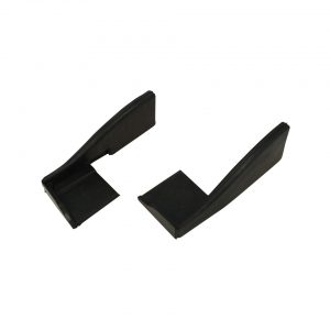 Lock pillar rubbers, convertible, as pair - Exterior - Body part rubbers - Door and window seals Karmann Ghia (XView 1-15)  - Generic