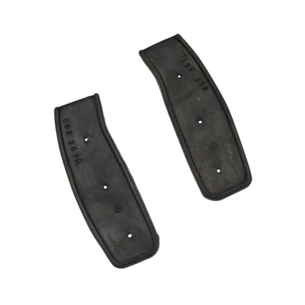 Lock pillar rubbers, coupe, as pair - Exterior - Body part rubbers - Door and window seals Karmann Ghia (XView 1-15)  - Generic