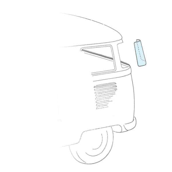 Corner window - clear (1) - Exterior - Windows and accessories - Windows - for aircooled VW (XView 1-09)  - VW Sunroofs