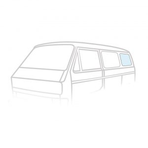Rear side window - Exterior - Windows and accessories - Windows,  Type 25  - Generic