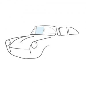 Door window, right, clear - Exterior - Windows and accessories - Windows - for aircooled VW (XView 1-09)  - Generic