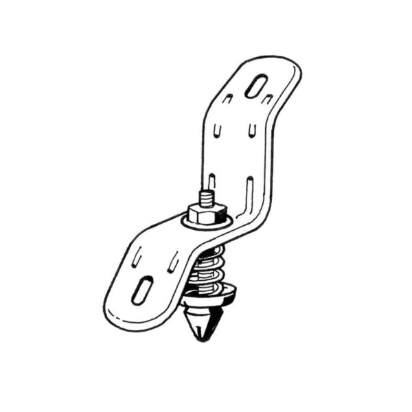 Front hood lock, inner part - Exterior - Mirrors and latches - Latches and locks  - Generic