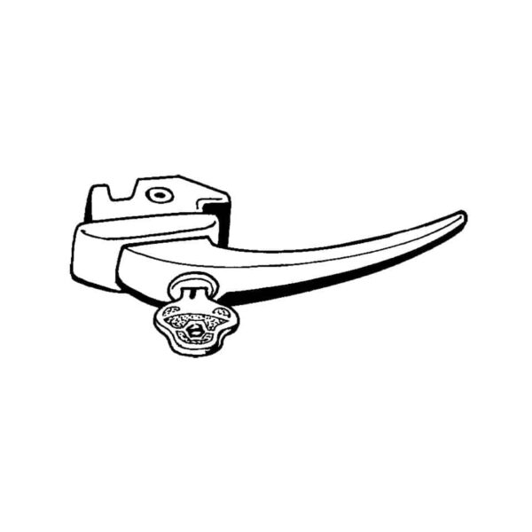 Door latch with keys - Exterior - Mirrors and latches - Latches and locks  - Generic