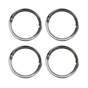 Outside, chrome wheel ring 14 inch, S/S - Exterior - Wheel rims and accessories - Beauty-rings hub cap rings  - Generic