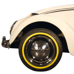 Yellow wall ring (small) 15 inch, 4 pieces - Exterior - Wheel rims and accessories - Tyre walls  - Generic